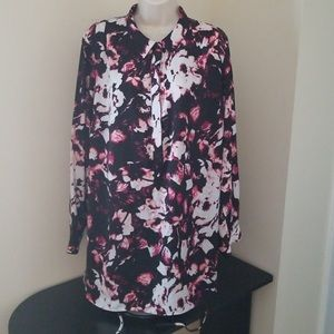 Apt 9 Long Sleeves Button up Top Sz 1x